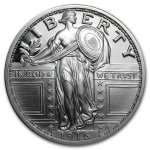 Standing Liberty Design One Troy Ounce .999 Fine Silver